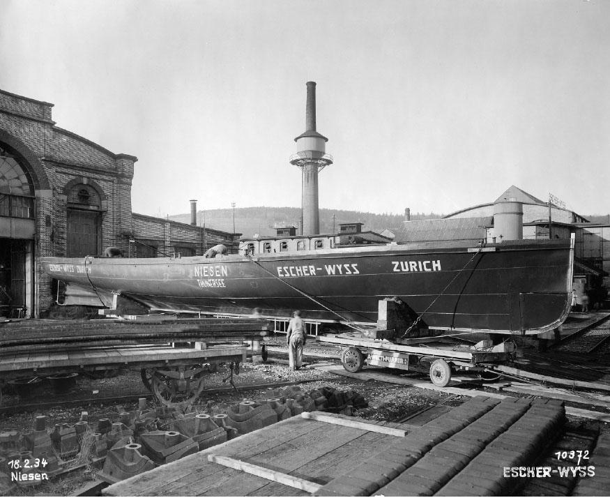 Schiffbauhalle von Escher-Wyss & Co, 1934