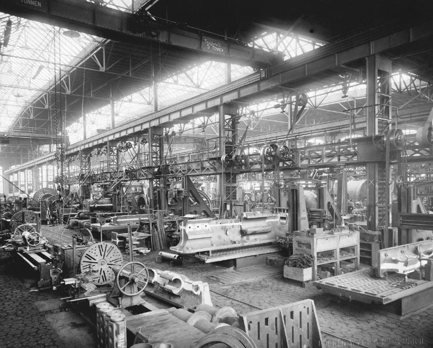 Produktionshalle von Escher-Wyss & Cie., 1900