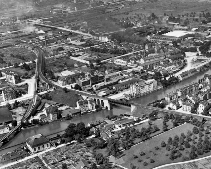 Das Industriequartier und Wipkingen, 1919