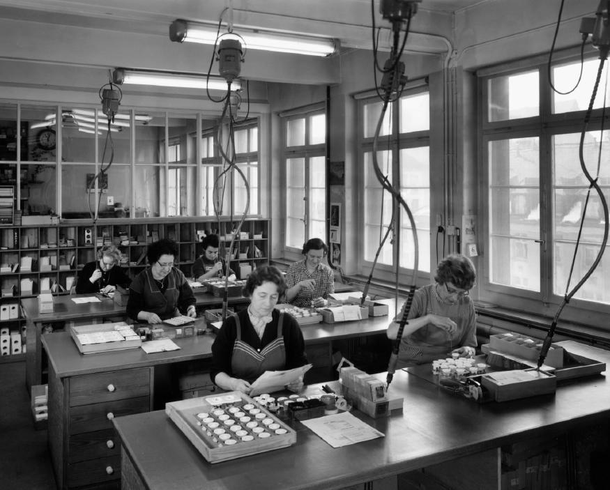 Arbeiterinnen am Sihlquai 215, 1963