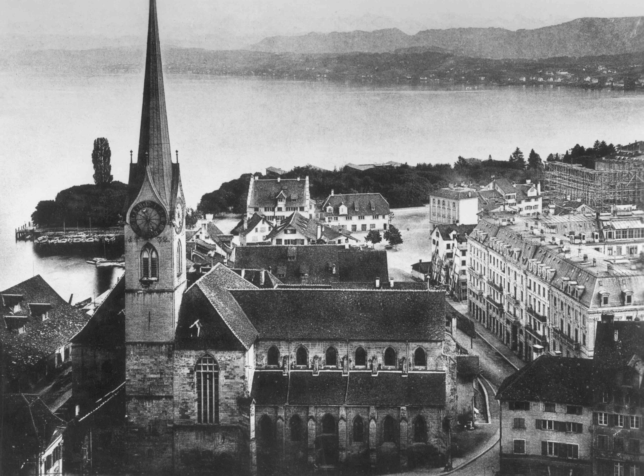 Kirche St. Peter Richtung Süden, 1878