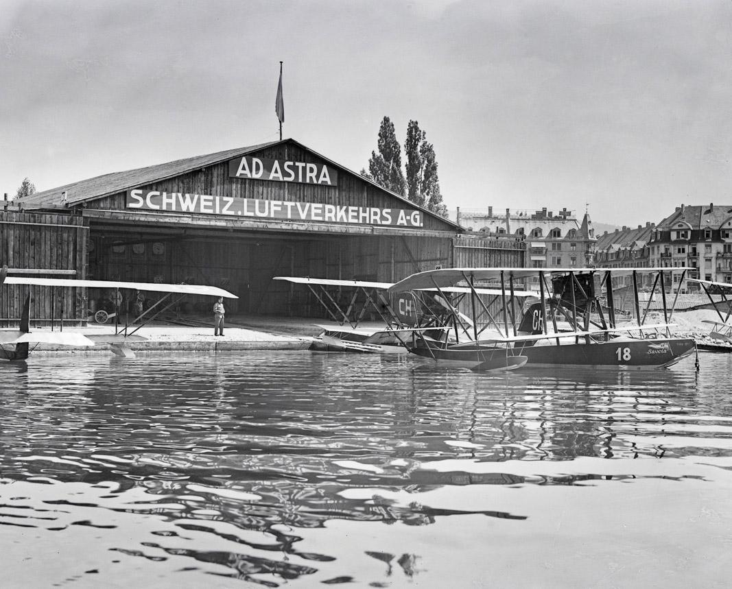 Der Flughafen Zürichhorn der Ad Astra Aero um 1920